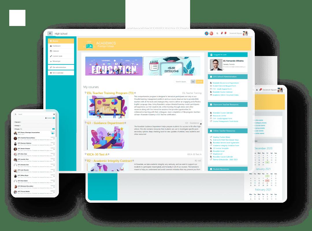 Rosedale Academy — E-learning platform